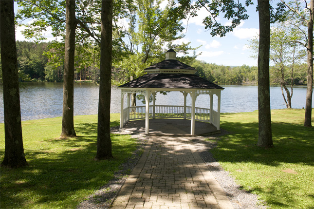Quiet spots for boys and girls to relax at our lakefront summer wellness camp, Camp Pocono Trails